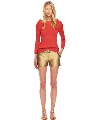 #FallingInLoveWith... Michael Kors Cashmere Cuff-Neck Sweater $895