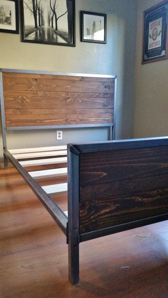 Metal And Wood Bed Frames best 10+ metal bed frames ideas on pinterest | iron bed frames