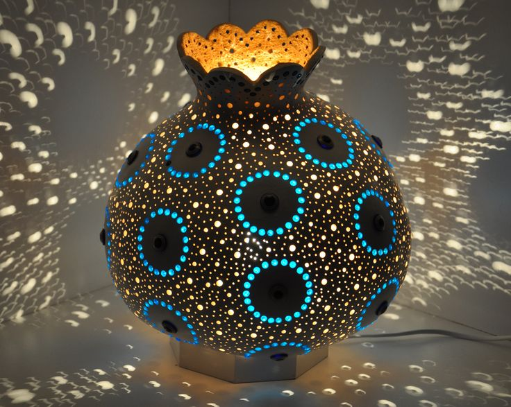 Turkish Gourd Lamps | Gourd table lamp