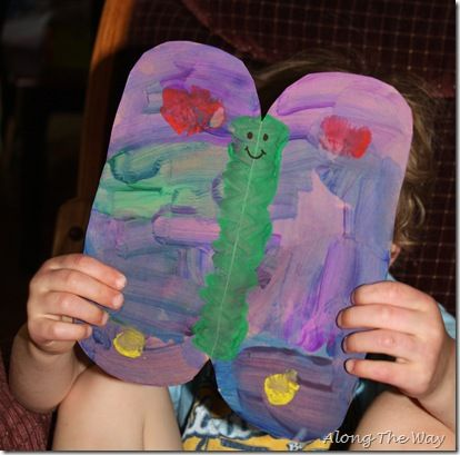 """Caterpillar to Butterfly"" Craft Idea + butterfly pretzels (Bug Week)"