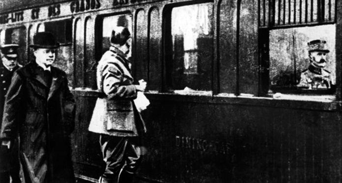 Ferdinand Foch and Matthias Erzberger - Orient Express
