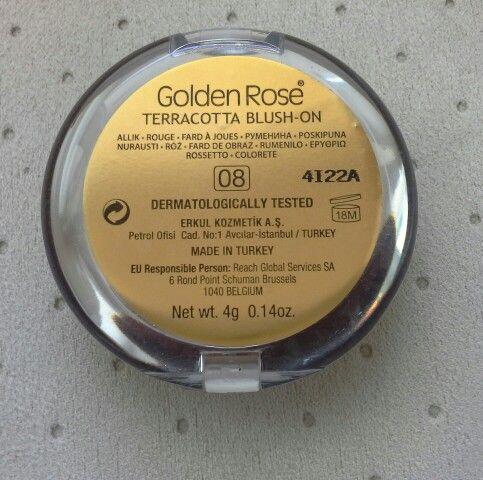 GOLDEN ROSE / TERRACOTTA BLUSH ON / nr 08