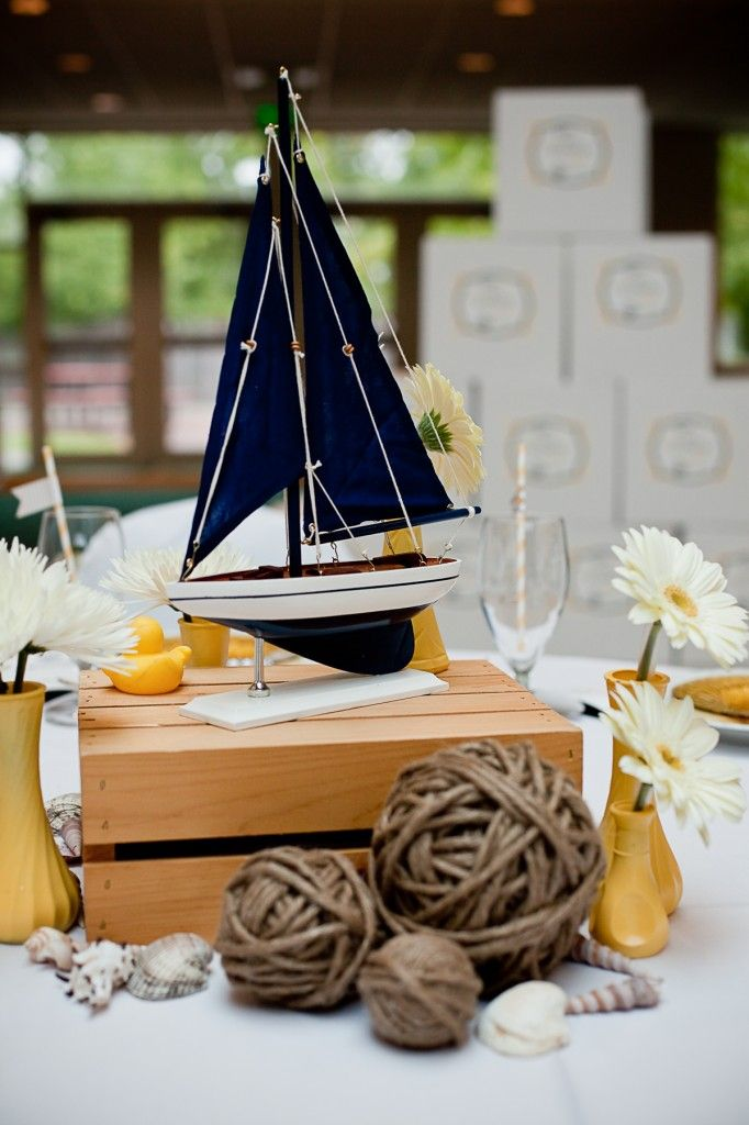 nautical party centerpieces birthday