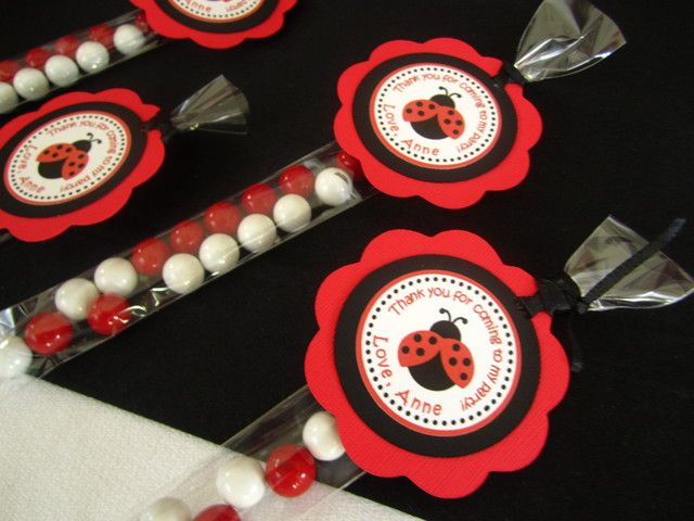 Favors at a Ladybug Party #ladybug #partyfavors