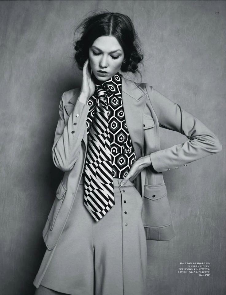 Karlie Kloss by Natalia Alaverdian for Harper's Bazaar Russia September