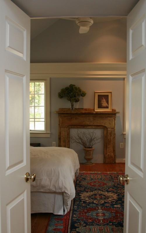 Love the mantle...even without a fireplace.