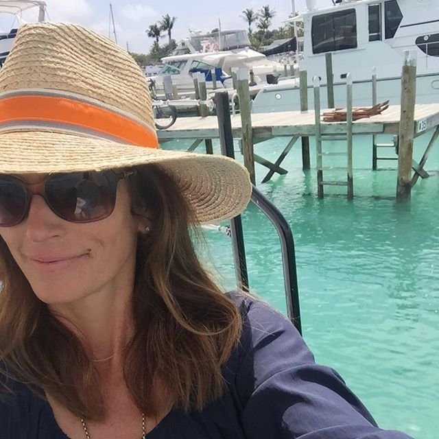 Pin for Later: Cindy Crawford and Kaia Gerber Can't Resist This Classic Swimsuit Cindy First Shared a Snap From Her Vacation Wearing a Straw Fedora and Brown Shades
