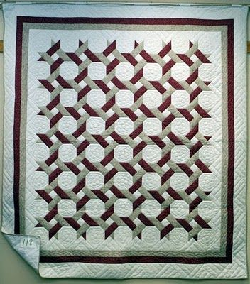 """Around the Twist"" Mennonite quilt, in: Quilt Inspiration: Snowballs for all seasons."