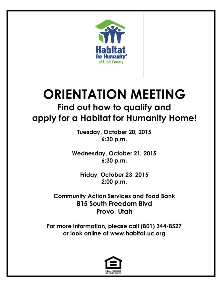 Does safe and affordable homeownership seem like a dream? The local Habitat program might be able to make that dream a reality! Mandatory orientations are planned for tomorrow and Friday! Details at www.habitatuc.org under latest news. #HabitatUC