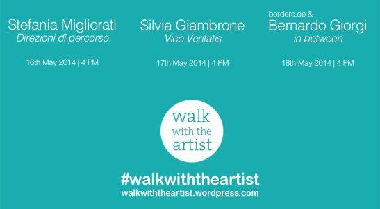 Walk with the artist 2014 is the result of the cooperation of 22:37 with THE BLANK Bergamo contemporary art. Invited artists: Silvia Giambrone, Bernardo Giorgi, Stefania Migliorati.