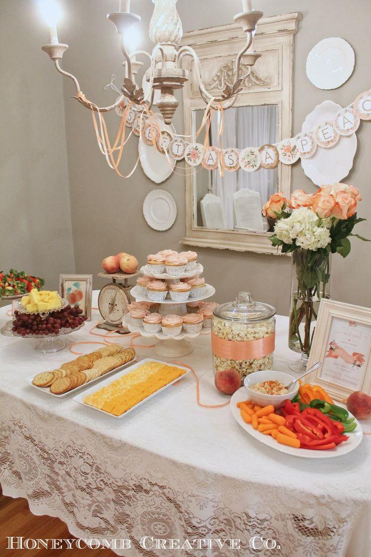Sweet As A Peach {Peach Themed Baby Shower}