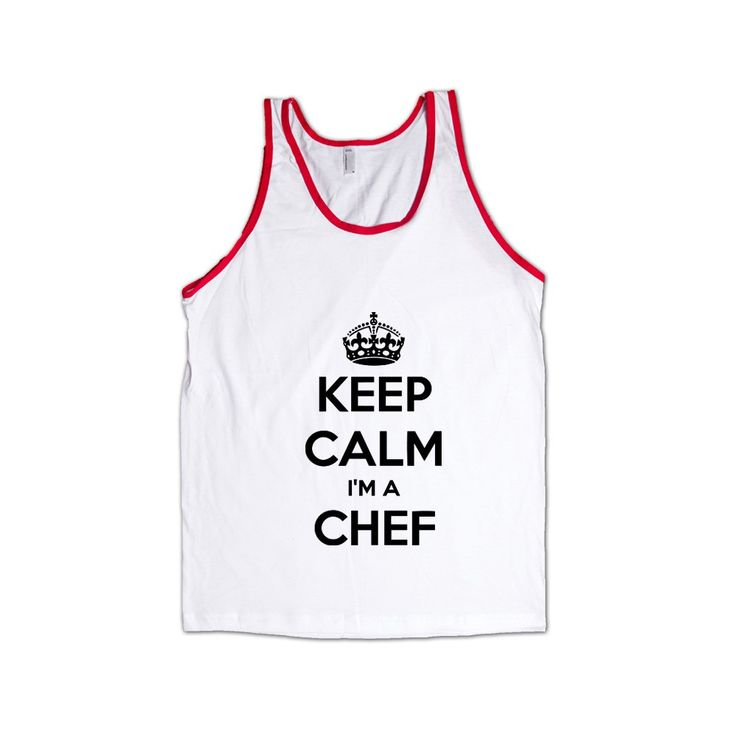 Keep Calm I'm A Chef Cook Cooking Food Foods Profession Catering Caterer Kitchen Restaurant Job Jobs Career Unisex Adult T Shirt SGAL4 Men's Tank