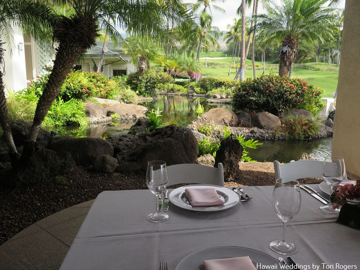 Gannon's Lower Pond. Perfect for your intimate reception or celebration. Contact Hawaii weddings by Tori Rogers for your wedding or event here. www.hawaiianweddings.net Rentals by Hawaiian Style Event Rentals
