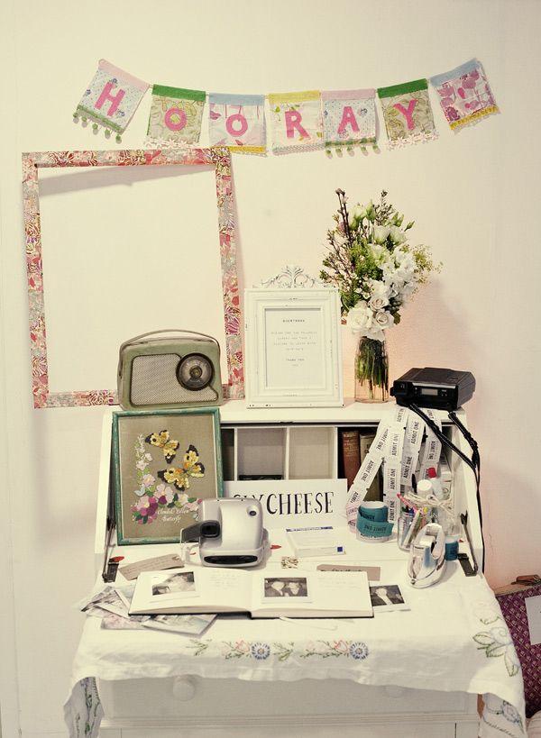 Polaroid guestbook!