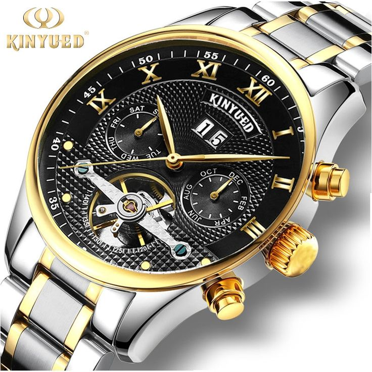 34.48$  Watch now - http://aih8b.worlditems.win/all/product.php?id=32797972119 - Mechanical Watches Mens Watches Luxury Brand Skeleton Automatic Tourbillon Watch Men Gold Calendar Wristwatch Relogio Mecanico