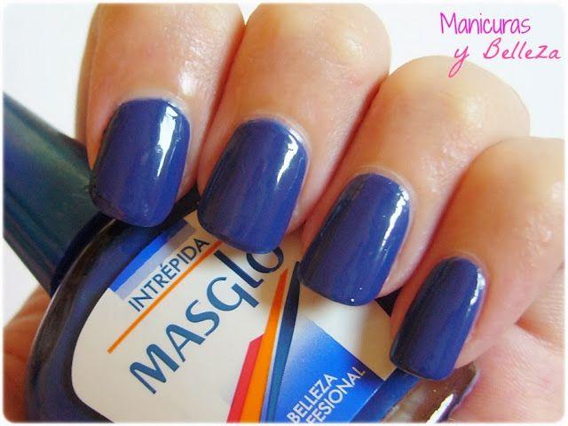 #Intrépida #Masglo blue nails uñas azul oscuro