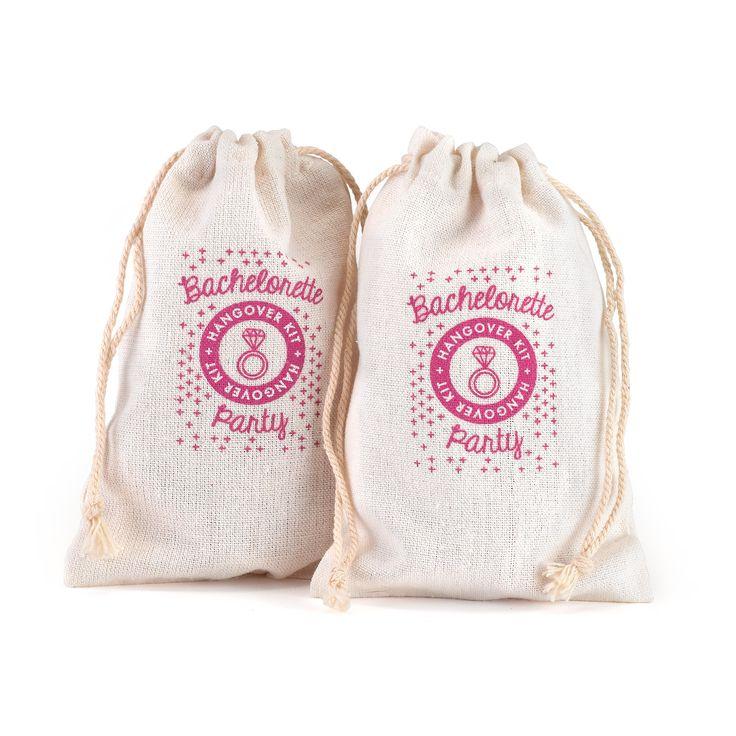 Bachelorette Hangover Kit Cotton Bag