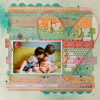 lisa truesdellScrapbook Ideas, Scrapbook Layouts, Heart, Studiocalico, Lisa Truesdel, New Baby, Washi Tape, Cards Scrapbook Papercraft, Scrapbooking Layouts