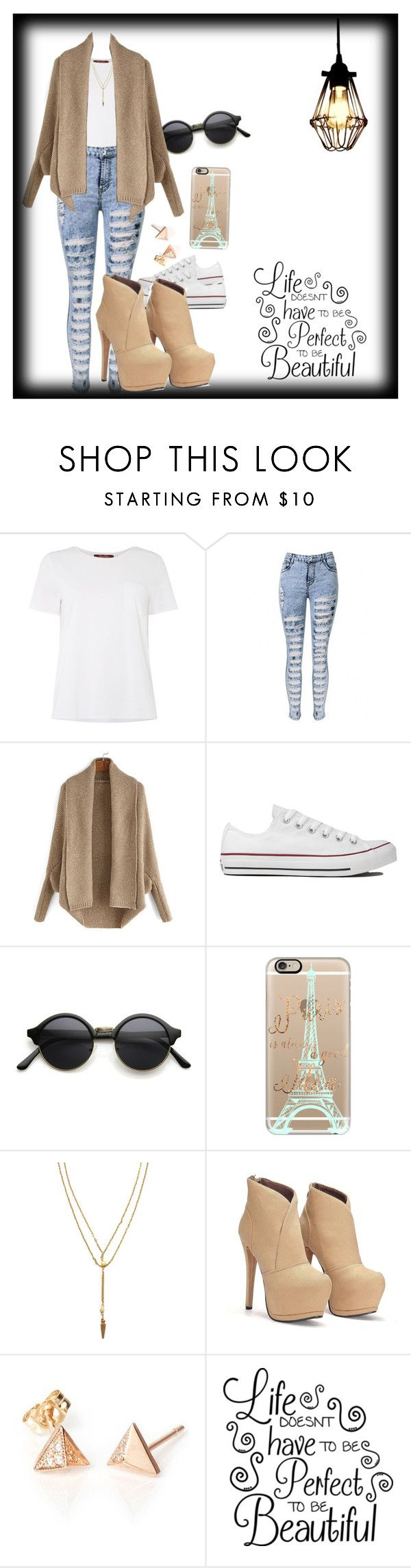 """""""Life doesn't have to be perfect to be beautiful xoxo"""" by aatkins ❤ liked on Polyvore featuring MaxMara, Converse, Casetify and Vanessa Mooney"""