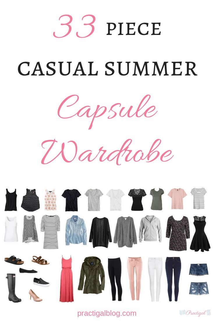 Shop my summer capsule wardrobe 2019! This is a casual capsule wardrobe, a minimalist capsule wardrobe for a mom. This is also the perfect starter capsule wardrobe for those on a budget because it's a simple basic capsule wardrobe for summer. Check out the summer tanks, tees, tops, outerwear, dresses, jeans and bottoms, shoes and footwear, and accessories like purses and necklaces in my simple capsule wardrobe for summer.