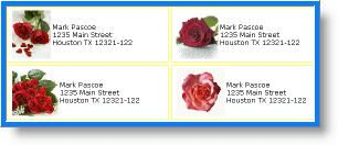 free red roses address labels, free custom and personalized address labels maker