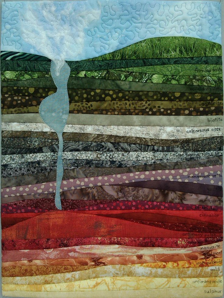 Gondwana 2: Geology. Second (of four) in the Gondwana Textile Artists challenge. 2016.