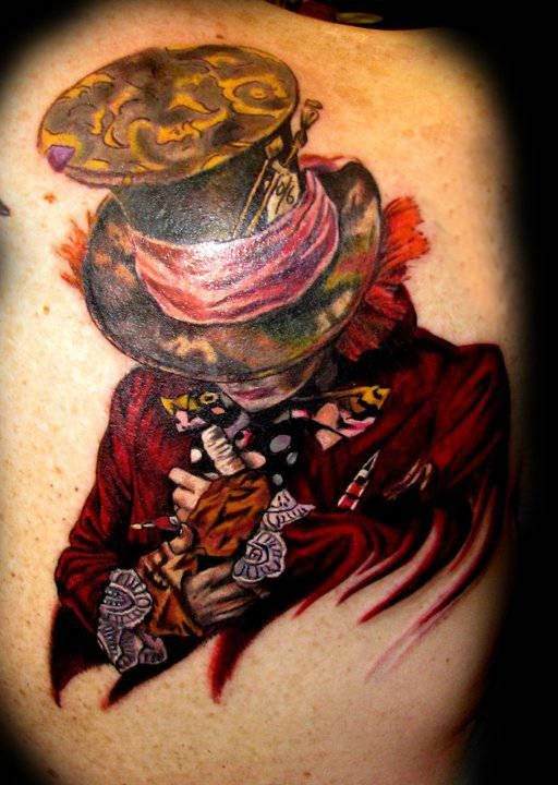 mad hatter ...WOW. I love this tattoo so much. Wow.