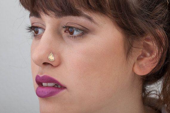 Extra große indische Nase Stud große Nasenloch von StudioMeme