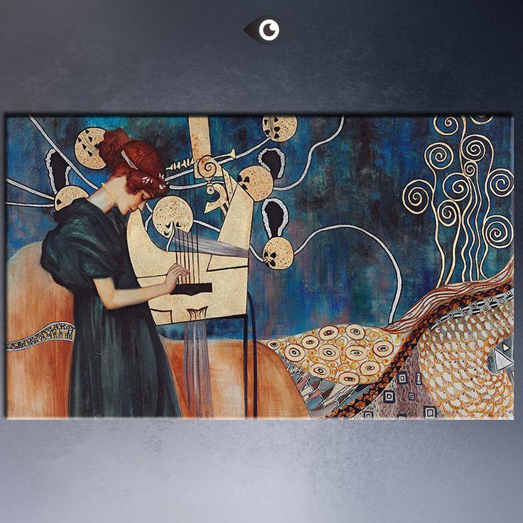 Огромный густав климт высококачественный принт холст стены искусства декор-mail маслом печать на холсте бесплатная пересылка