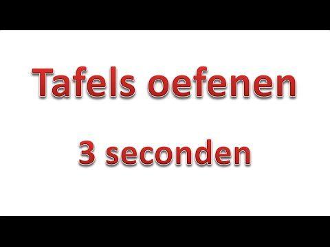 Tafels oefenen 3 seconden zonder antwoorden - YouTube