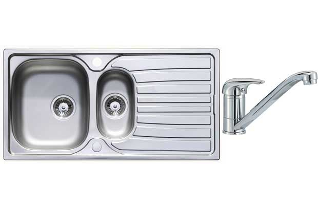Image of Lumex Kitchen Sink with 1.5 Bowl and Single Lever Tap