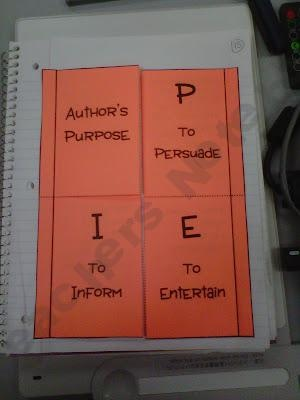 Author's Purpose foldable product from Fearless-in-5th on TeachersNotebook.com