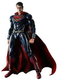 Superman: Man Of Steel Play Arts Kai Superman Action Figure Ships fro japan