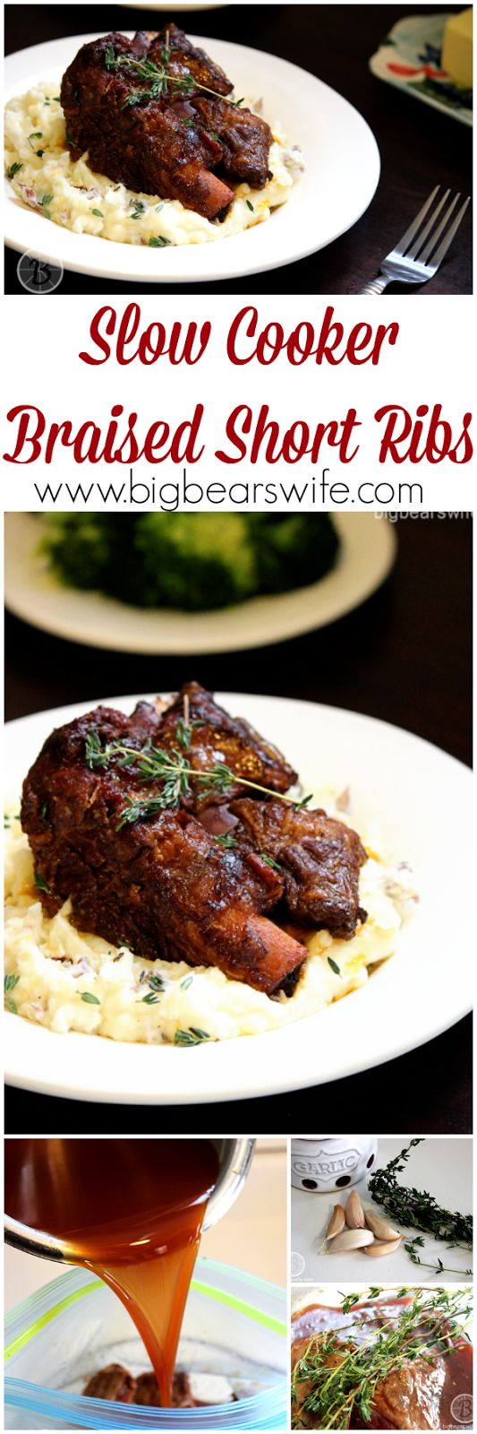 Big Bear's Wife: Slow Cooker Braised Short Ribs #SundaySupper