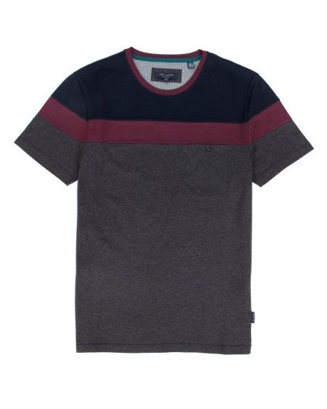 Color block crew - Charcoal | Tops & T-Shirts | Ted Baker
