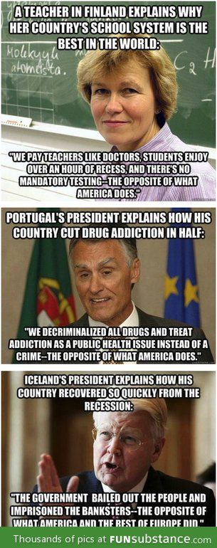 How governments of other countries solve national problems. Sounds a bit familiar hm? If you haven't I implore you to research #BernieSanders wether you're republican, independent, Green Party, what have you.. Look into this man. Vote #BernieSanders2016