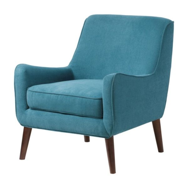 Be bold and bright with this teal blue fabric accent chair  The Oxford chair  is crafted with espresso stained legs and a mid century inspired wrap  shape   125 best Chairs images on Pinterest   Tufted chair  Coffee tables  . Mid Century Modern Chairs Overstock. Home Design Ideas