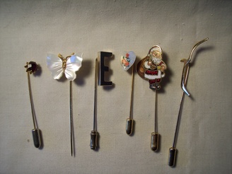 Set of 6 Vintage Stick Pins From Harpys Attic @Etsy // & 213 best Up for Auction images on Pinterest | Auction Attic and Loft
