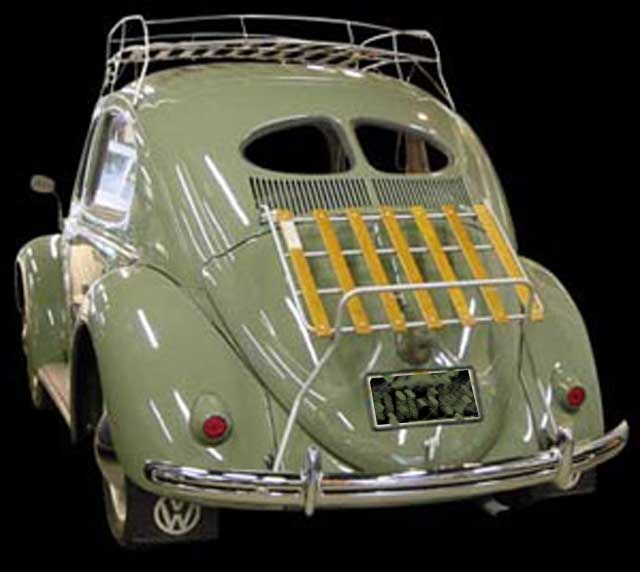 VW TYPE 1 BUG VINTAGE REAR DECK LID LUGGAGE RACK