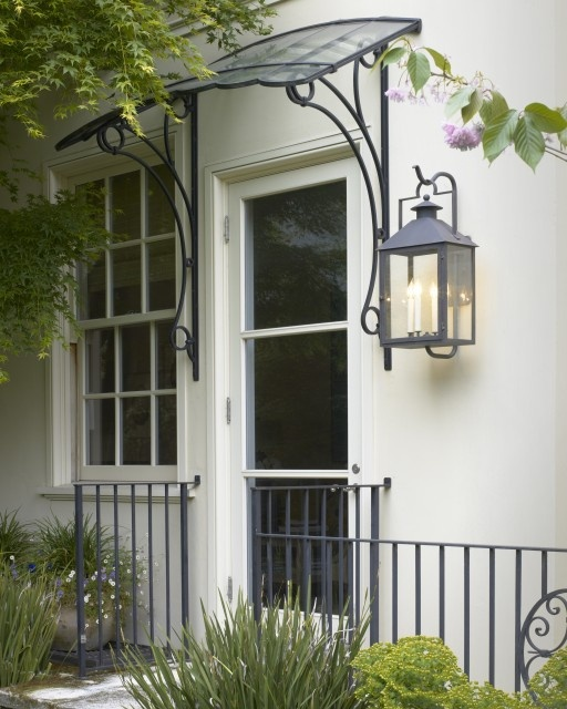 Unique door awning - perfect for a flat in London.