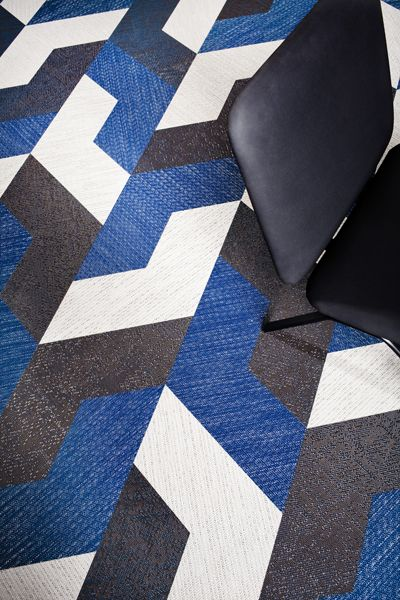 Bolon flooring. Great design and colors.