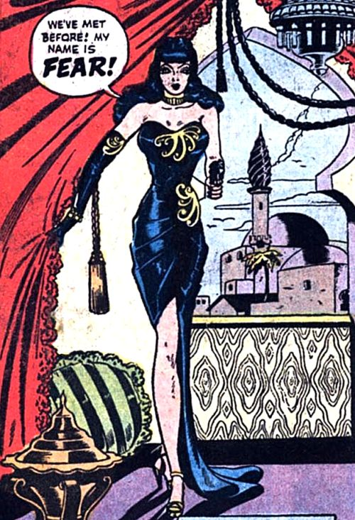 "superdames: "" The Return of Fear. —Blackhawk #13 (1945) by Bill Ward """