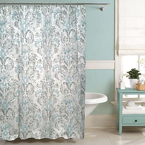 Raymond Waites Moorea Shower Curtain Collection Bathroom