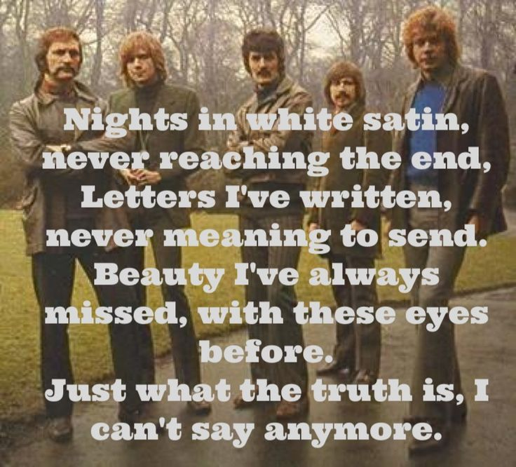 The Moody Blues - Nights In White Satin #Lyrics