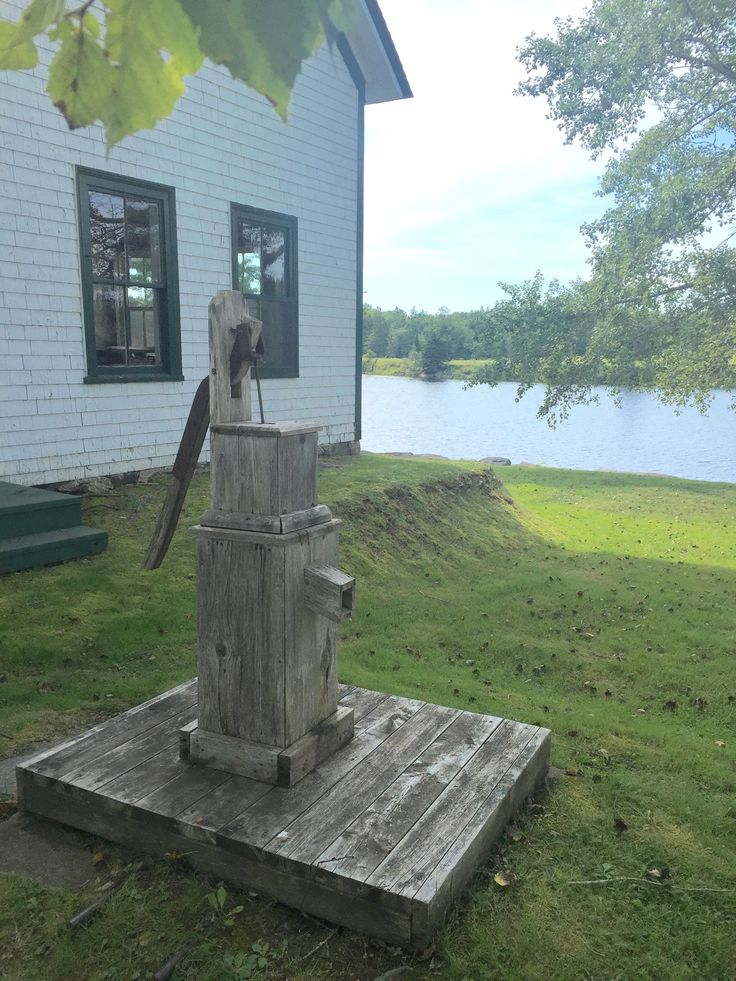 Old fashioned water pump.  Sherbrooke Village, Nova Scotia