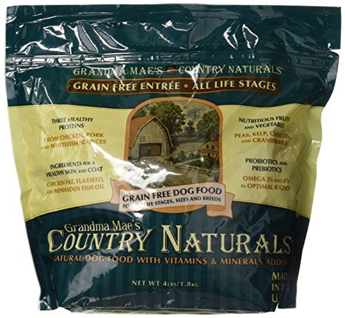 Grandma Maes 79700129 4 lb Country Naturals Premium All Natural Dog Food Grain Free One Size >>> For more information, visit image link.