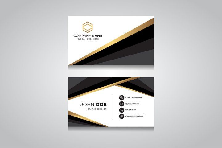 Creative And Clean Vector Business Card Template 132562 Business Cards Design Bundles In 2021 Business Cards Vector Templates Vector Business Card Business Cards Creative