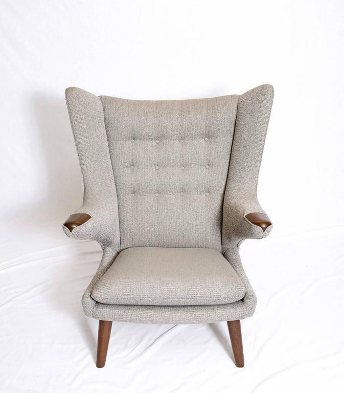 "Hans Wegner ""Papa Bear"" Chair and Footstool 4"