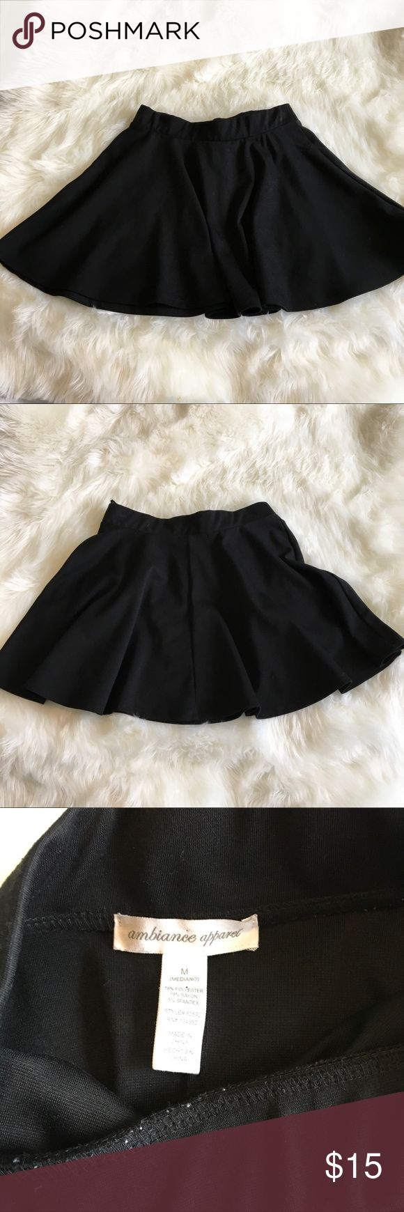 Black circle skirt by ambiance apparel size m Size medium black circle skirt by ambiance apparel, used. Good condition Ambiance Apparel Skirts Circle & Skater