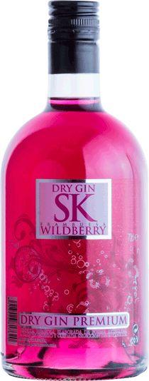 SK WILDBERRY PREMIUM DRY GIN Ginebra seca con infusión de frambuesas. Elaborada de forma artesanal. #GIN #wildberry #ginebrasabores